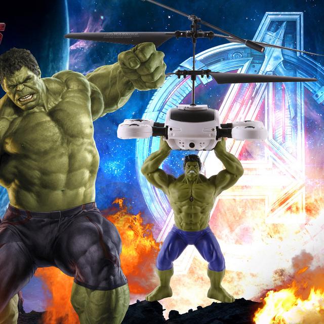 O Hulk de Avengers indução remoto helicóptero de controle UNBreak Unzerbrechlich indução de carregamento iluminado brinquedos para crianças