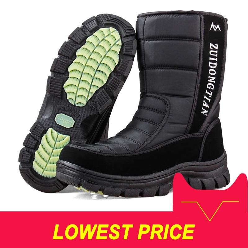 Men snow boots 2018 men winter shoes warm waterproof non-slip platform boots for men botas de hombres size 40 - 45Men snow boots 2018 men winter shoes warm waterproof non-slip platform boots for men botas de hombres size 40 - 45