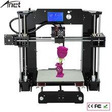 Легко Построить Anet A8 и A6 Reprap Prusa I3 Arcylic 3d Принтер Большой Размер Высокая Точность DIY3DPrinter Kit + Нити + SD Card + LCD + Очаг