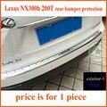 Для LEXUS NX NX300h 200 Т задний бампер подоконник протектор, задний багажник дверь пластины, быть изготовлены из нержавеющей стали, четыре варианта, бесплатная доставка