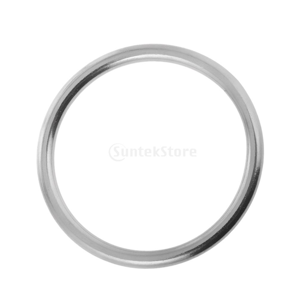 10pcs 304 Stainless Steel Polished Welded Round O Ring 20mm 25mm Marine Boat
