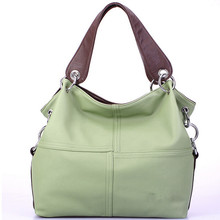 2016 Women Versatile Handbag Soft Offer PU Leather Bags Zipper Messenger Bag Splice Grafting Vintage Crossbody Bags F009