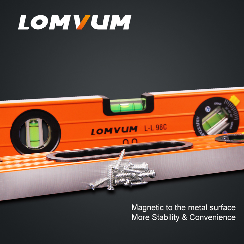 Image 3 - LOMVUM High Precision Spirit Level Magnetic High Bearing Ruler Lever Bubbles Rustproof Horizontal Ruler Spirit Level Vial-in Level Measuring Instruments from Tools