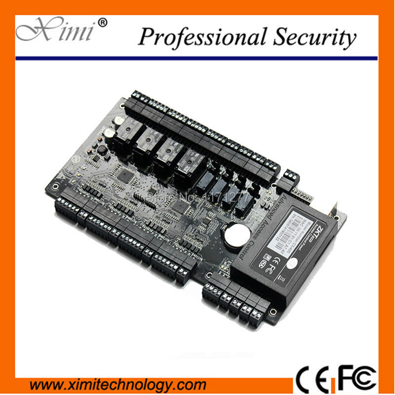 Good quality ZK C3-400 door access controller TCP/IP Network intelligent four doors acess control panel sdk two doors two ways input output ports 30000 user tcp ip network zk c3 200 door access control board