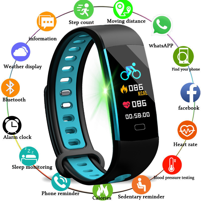 2018 New Good Band Ip68 Waterproof Good Wristband Coronary heart Price Health Tracker Good Bracelet Wearable Gadgets Health Observe+Field