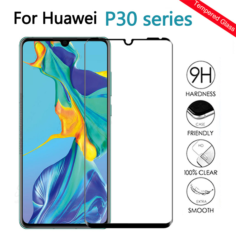 Protective Glass On The For Huawei P30 Lite Full Cover Tempered Glass Huawey P30 P 30 Lite Light Screen Protector P30lite Film