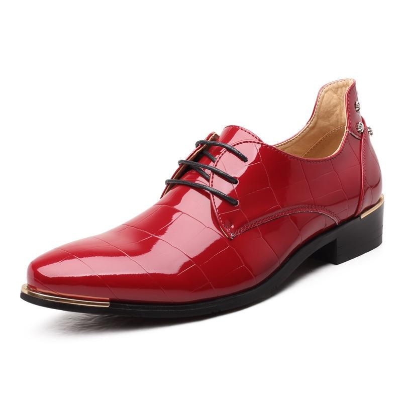 Cuir Taille Chaussures Masorini D'affaires De Hommes Robe Pour rouge Plus Oxford 47 589 45 Formelle Mariage bleu 48 Noir Ww La En 46 5qxOwYrOt