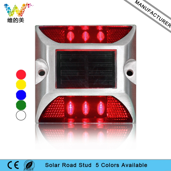 Raised Road Stud Maker Pathway Deck Dock LED Steady Light Solar Powered 10 Pieces Free Shipping Roadside Led Lighting