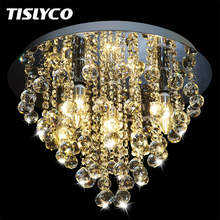 цена на Crystal Chandelier Modern Chandeliers Crystal Ball Light Fixture Flush Mount for Hallway Bedroom Living room Kitchen Dining Room