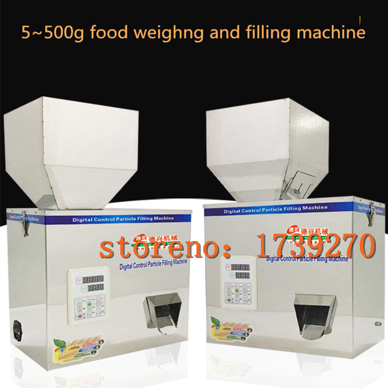 1PC 5~500g quantitative packaging machine,automatic food/powder/particle/seed filling machine ,bags sealing machine to choose double hopper stainless steel semi automatic food chemical particle filling machine