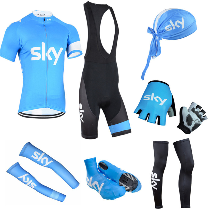SKY Pro Polyester Summer Short Sleeve Set Quick dry Cycling Jersey Bike Clothing Bicycle Clothes Sportwear Ropa Ciclismo A1803 breathable quick dry bike ropa ciclismo skintight short sleeve cycling jersey clothes gel pad bicycle cycling clothing