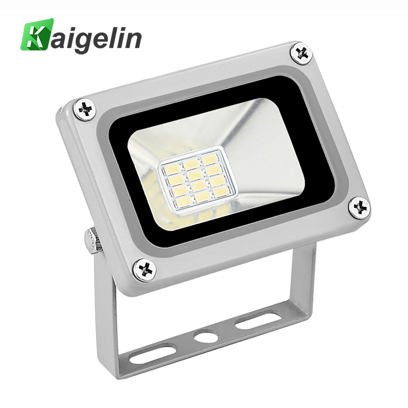 Kaigelin 10W LED Flood Light 12V-24V IP65 Waterproof LED Floodlight Refletor LED Spotlight Untuk Lampu Kolam Lampu Taman