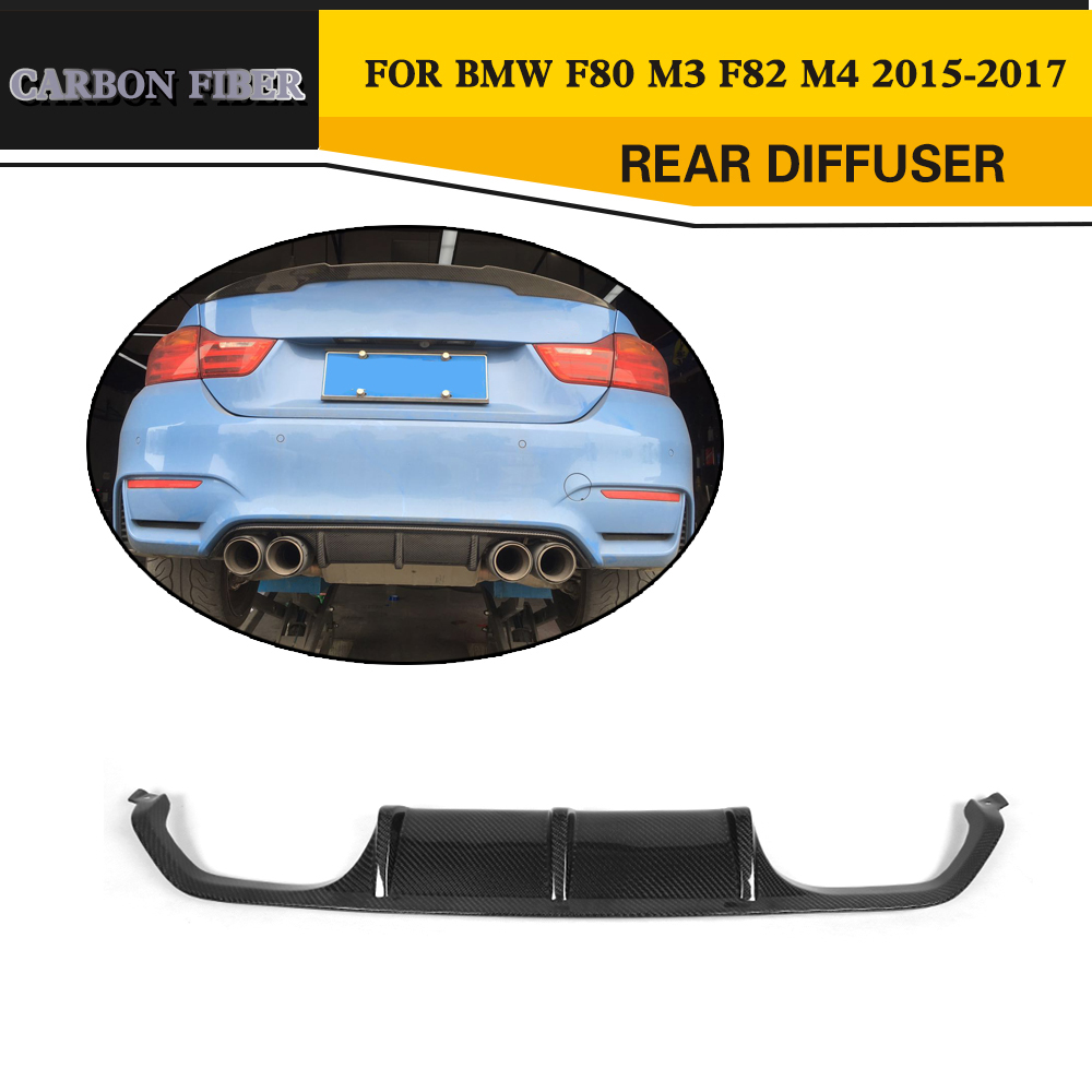 Carbon Fiber Rear Diffuser Lip for BMW F80 M3 F82 M4 Coupe Sedan Convertible 2015-2017 bmw 645 ci cabrio convertible 1 24