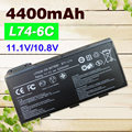 4400 mAh bateria do portátil Para MSI 91NMS17LD4SU1 91NMS17LF6SU1 957-173XXP-101-957-102 173XXP BTY-L74 BTY-L75 MS-1682