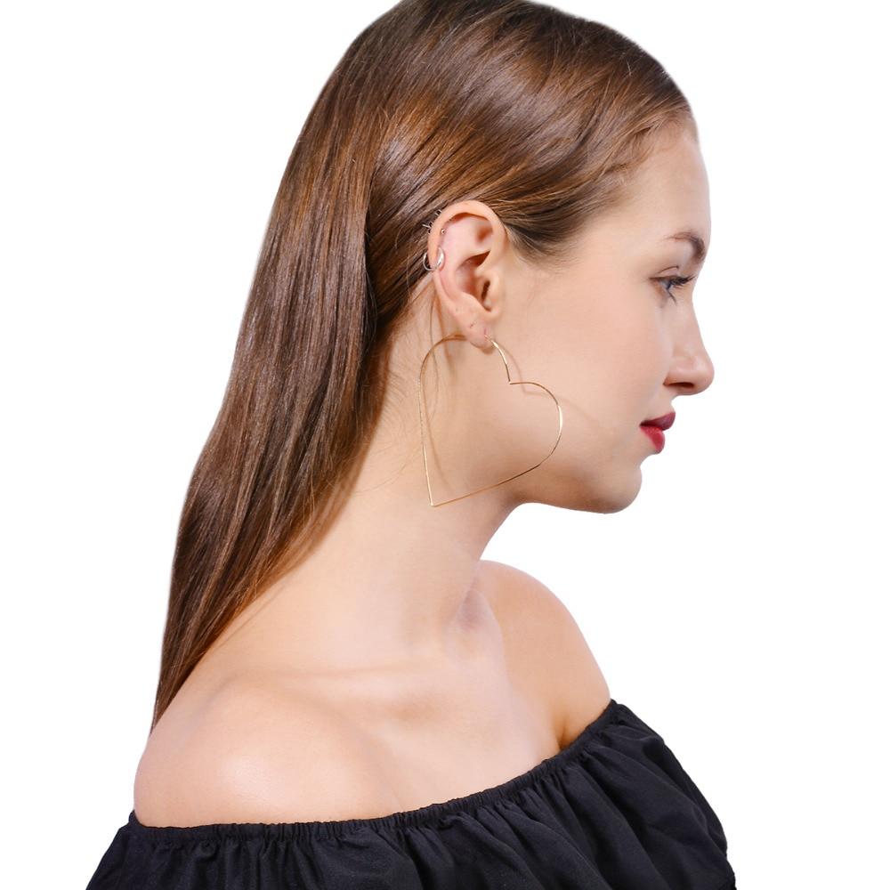 Classic Heart Star Shape Drop Dangle Earrings for Women GoldSilver Color Copper Earrings Jewelry