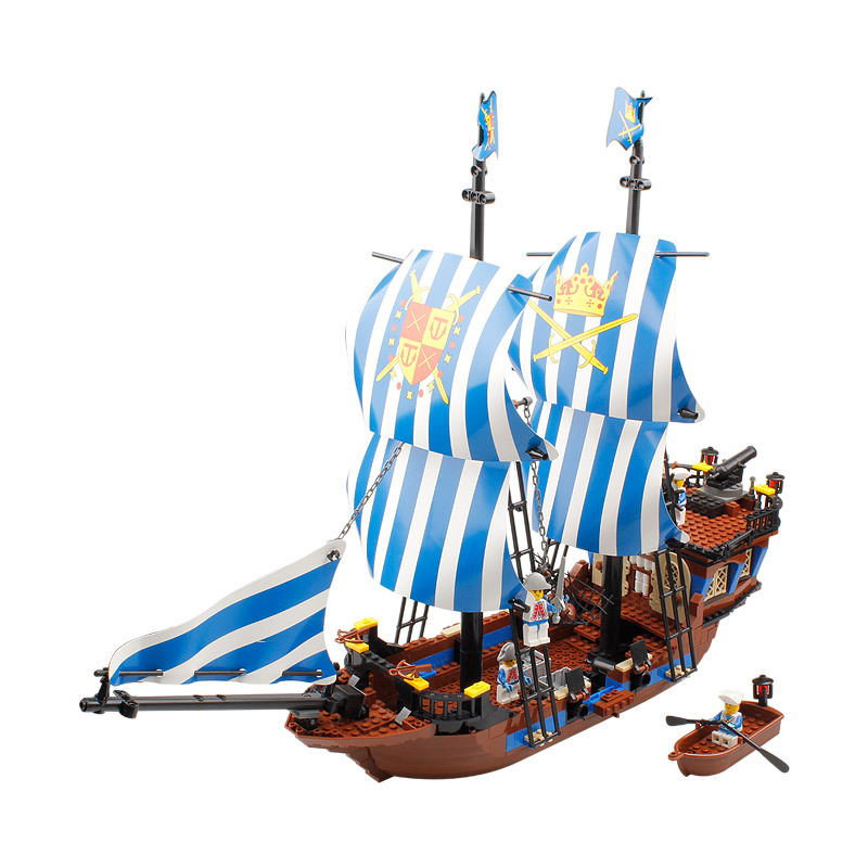 KAZI Building Blocks K87011 608pcs Pirates Black Pearl Model Building Kits Model Toy Bricks Toys Hobbies Blocks kazi building blocks k87011 608pcs pirates black pearl model building kits model toy bricks toys hobbies blocks