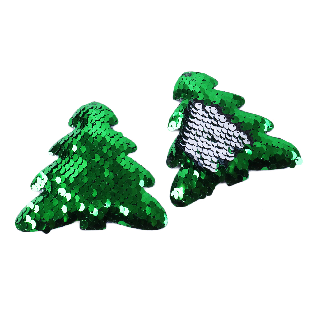 David Accessories Christmas Tree Deer Reversible Sequin Patch Hair Accessories,DIY Decoration Crafts Handmade Materials,5Yc4753