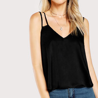 Summer Sleeveless V Neck Solid Camis Vest Blouse Tank Tops Camis Clothes For Women Female 20