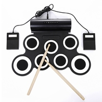Portable Jazz Drum Kit Foldable Silicone USB Roll up Electronic Percussion Instruments For Children