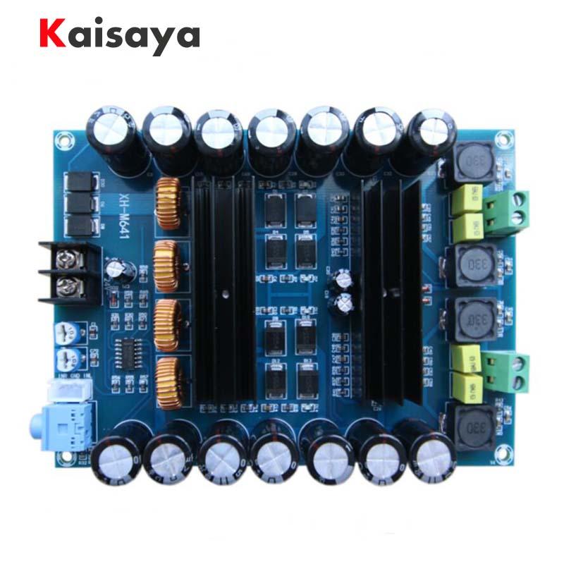 XH-M641 TPA3116D2 DC12V 24 V 150 W x 2 Audio Digita Haute Puissance 2 canaux voiture amplificateur Avec Boost conseil G2-010