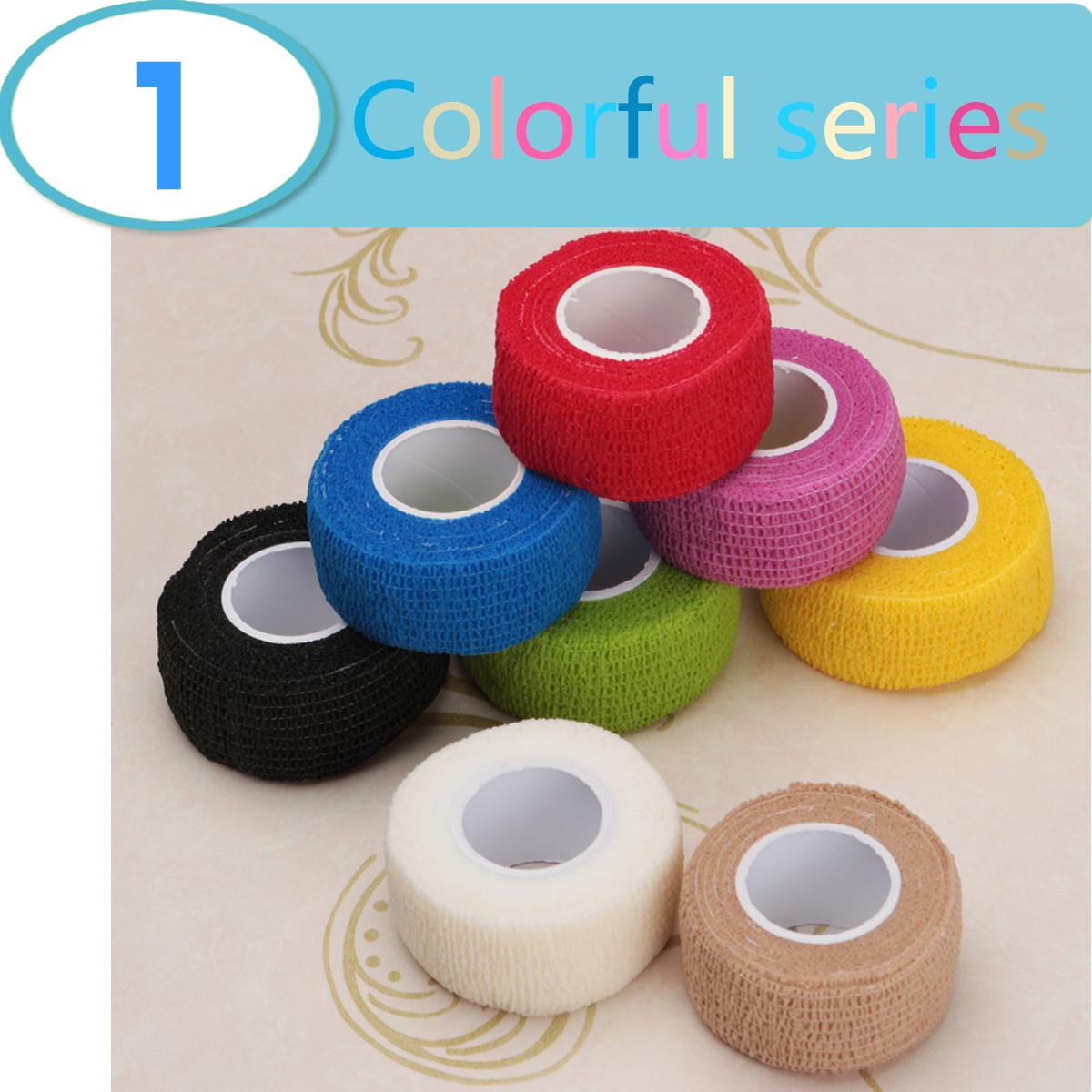 Safurance 2.5cm*5m Colorized Therapeutic Elastic Tape Sports Physio Muscles Care Bandage First Aid Security Protection цена 2017