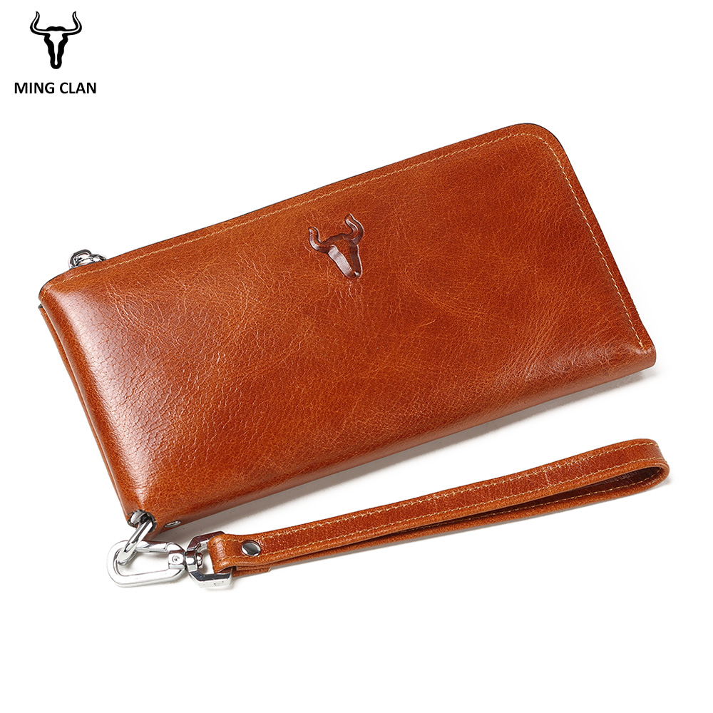 Men Clutch Bag Italian Vegetable Tanned Leather Long Wallet Luxury Phone Wallets Wristlet Male Purse Man Clutch Hand Bag Purses накладной светильник pl 673 cu helios