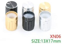 20 piezas aleación de aluminio amplificador de alta gama pomo de potenciómetro de audio amplificador de potencia perilla de volumen tapa 13*17mm para amplificador HIFI