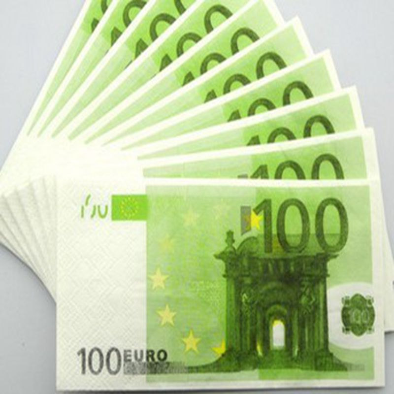 Funny gift 100 euro tissue banknotes tissue 1 1 size for Ohrensessel 100 euro