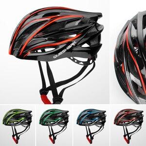 Image 2 - QUESHARK Professional uomo donna prese daria casco da ciclismo ultraleggero equitazione Mountain Road Bike casco per la sicurezza della testa
