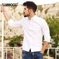 SIMWOOD Marca 2016 Nueva otoño hombre camisas camisa masculina chemise homme CS1536 real algodón marca ropa de manga larga