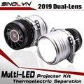 SINOLYN автомобильный 3,0 дюймовый би светодиодный объектив I5 модернизированная фара проектор светодиодное освещение лампы линзы комплект 6000K ...