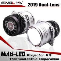SINOLYN автомобильный 3,0 дюймовый би светодиодный объектив I5 модернизированная фара проектор светодиодное освещение лампы линзы комплект 6000 K