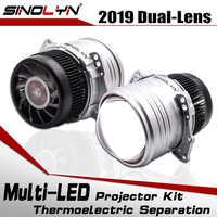 SINOLYN faro lentes Bi LED lente I5 3,0 pulgadas HID proyector LED lámparas Kit 6000K 5200LM accesorios de coche estilo de modificación