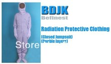 Radiation Protective Clothing Closed Jumpsuit with 2 Layers Fabric Protection Suit and Working Clothes Free ship