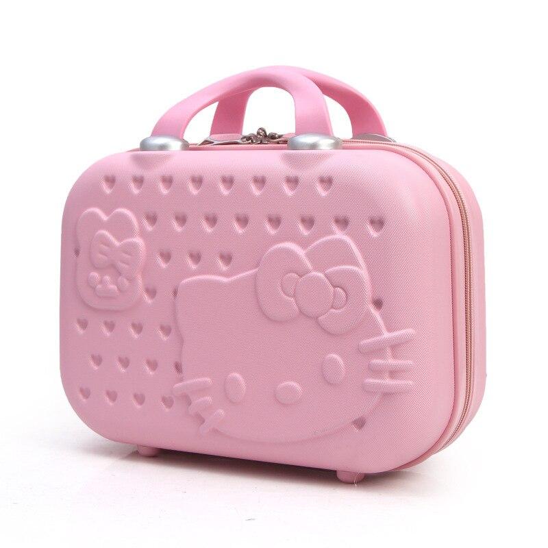 Fashion Lovely Cat Mini- Portable Makeup 14 Inch Small Hello Kitty Malas Bag travel suitcase manley teksta kitty mini 21738b