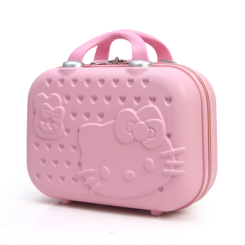 Fashion Lovely Cat Mini- Portable Makeup 14 Inch Small Hello Kitty Malas Bag travel suitcase