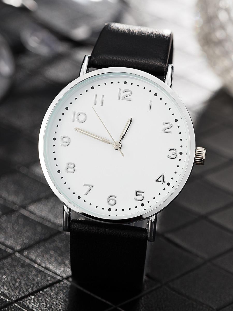2018 mode femmes montres noir femmes montre-bracelet à Quartz unisexe montre relogio feminino horloge amoureux montres chiffre arabe