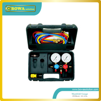 Only R410a manifold Gauge set with aluminium alloy valve body and 60 charging hose for R410a Air conditioner