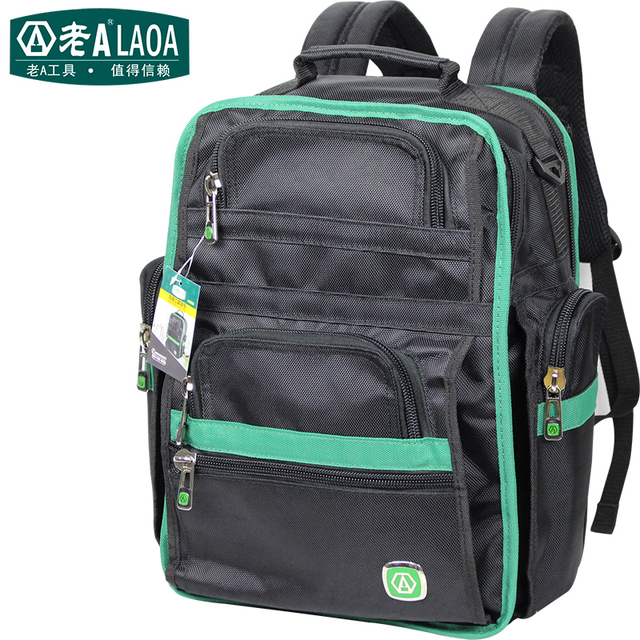 Tool Kit Features Oxford Cloth Backpack Canvas Thickening Electrician Package Bag Maintenance