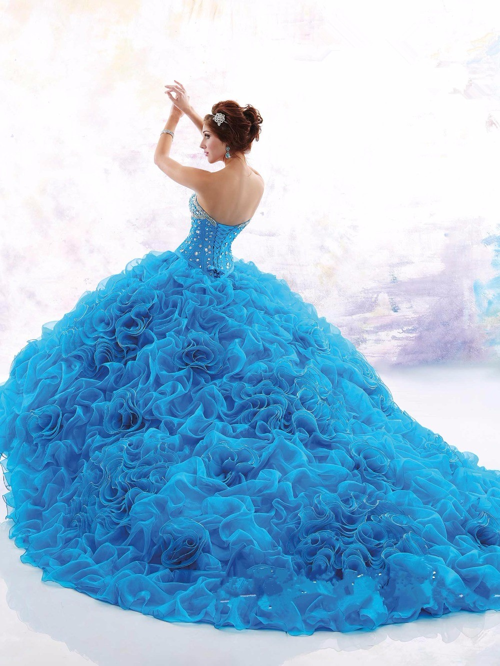 2016-New-Arrival-Free-Shipping-Baby-Blue-Bodice-Corset-Quinceanera-Dresses-Ball-Gown-Yisha-Lady-Custom (2)