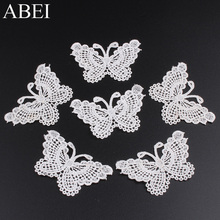 Embroidered Butterfly Soluble-Patch Appliques Garment-Accessories Craft Wedding-Party