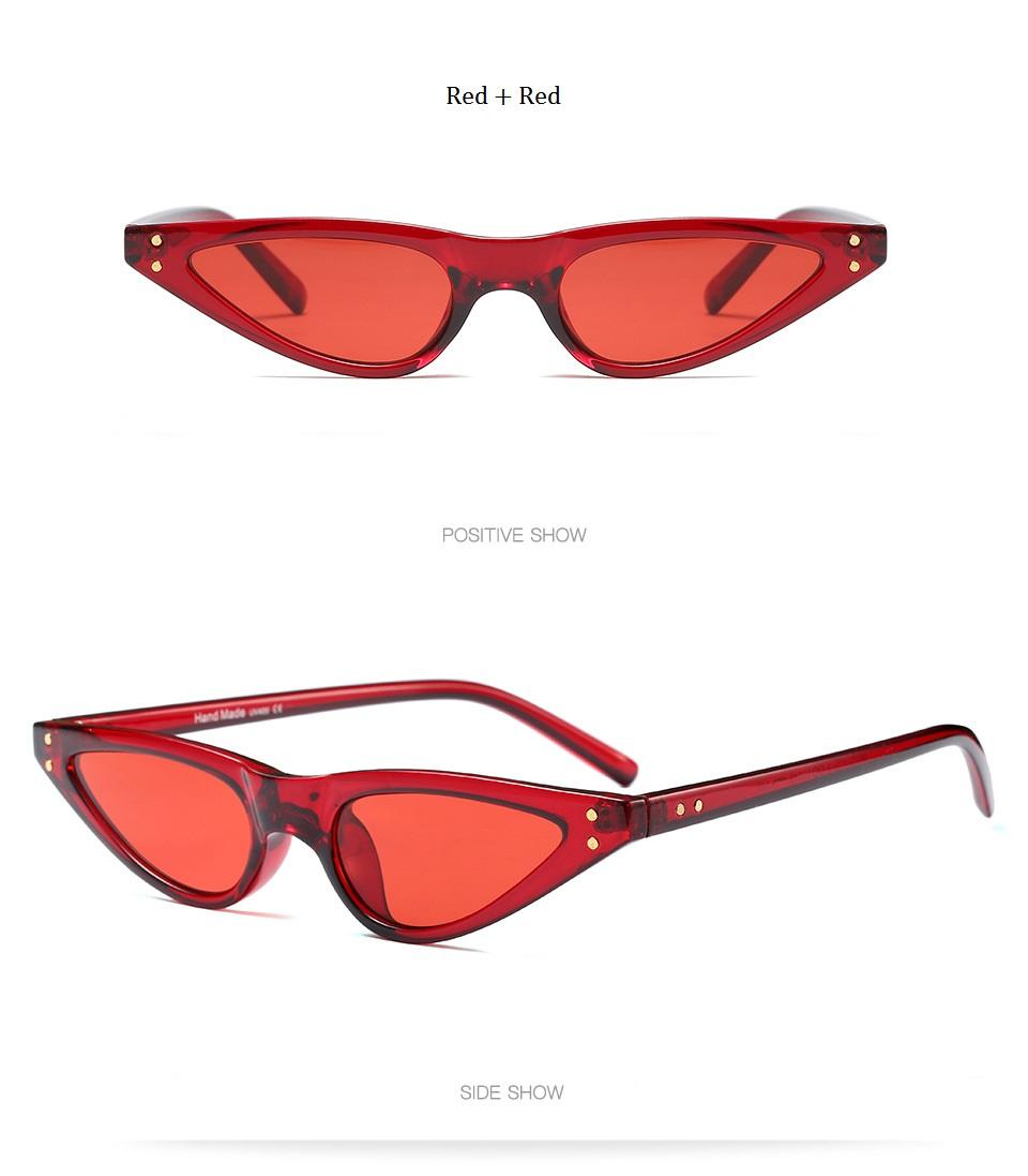 HTB1Vfe3dMvD8KJjy0Flq6ygBFXaC - Unisex Flat Top Eyeglasses Small Triangle Frame Cat Eye Sunglasses Women UV400 2018 Fashion Color Ocean Film Sun Glasses Cool
