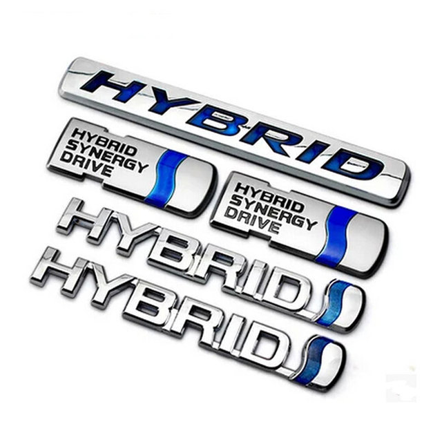 Car Styling Abs Chrome Hybrid Badge Emblem Sticker Decal For Toyota Camry Prius Yaris