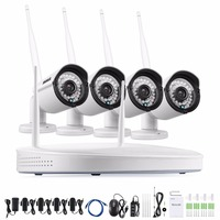 ANNKE 4CH 960P NVR Wireless CCTV System 4PCS 1 3MP CCTV Security WIFI IP Camera Baby