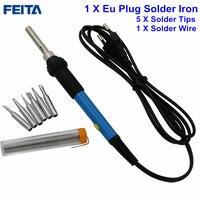 FEITA AC220V 60W Adjustable Temperature Electric Soldering Iron Station With Regulator Gift 5pcs Solder Tip Solder