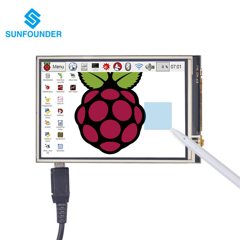 3,5 Zoll TFT LCD Display Touchscreen Monitor für Raspberry Pi 3 2...