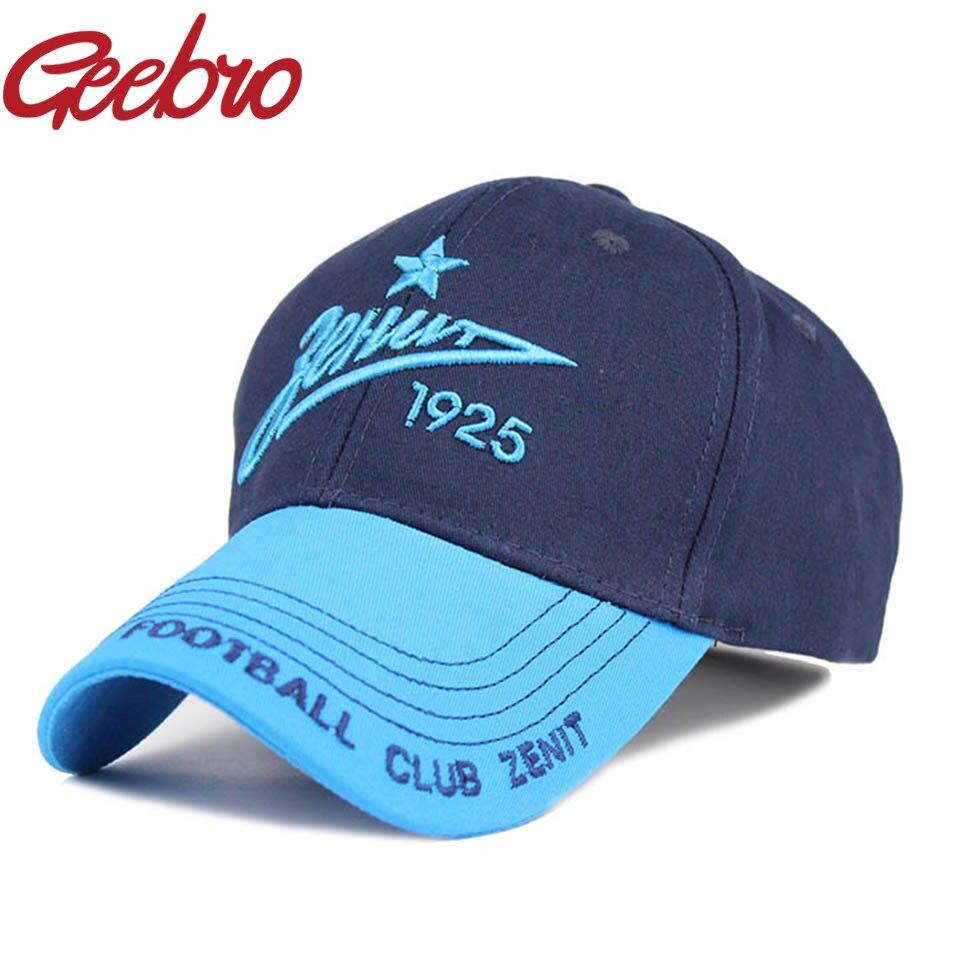 Prix pour Geebro Zenit Saint-pétersbourg Badge Fans Souvenir Broderie Snapback Casquette de baseball de Sport de Football Chapeau pour Hommes Et Femmes Cap JS257A