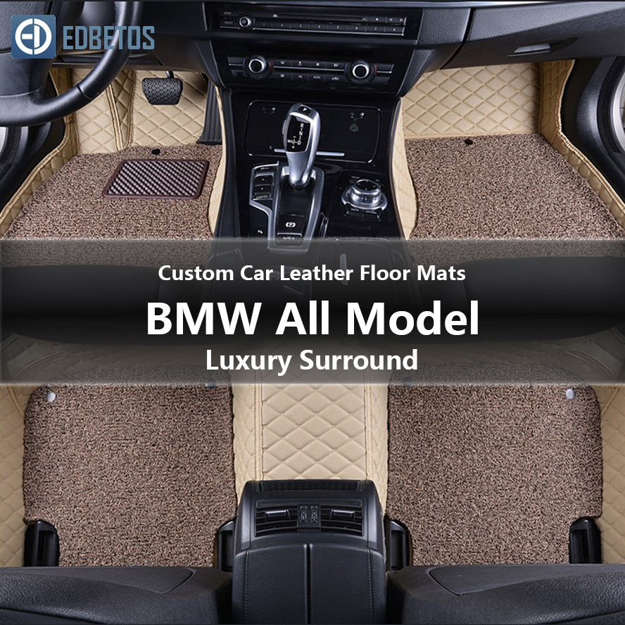 Custom Car Leather Floor Mats for BMW All Models 335i 335i GT xDrive 335i xDrive 335is 335xi 428i Luxury Surround Wire Floor Mat-in Floor Mats from Automobiles & Motorcycles