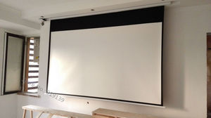Image 5 - DHL Fast Shipping Big Cinema Motorized Projection Screen 120 Inch 16:9 Matt White 3D Projector Electric Screen With Remote