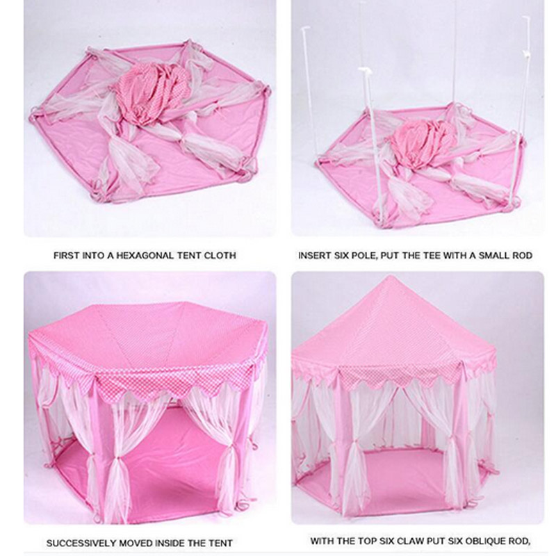 Portable Foldable Princess Castle Play Tent Children Fairy House Funny Indoor Outdoor Playhouse Beach Toys ED